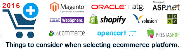 Things to consider when selecting ecommerce platform